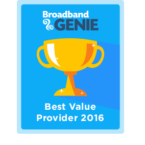 Best Value provider 2016 award - Plusnet