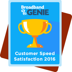 Customer Speed Satisfaction 2016 award - Virgin Media