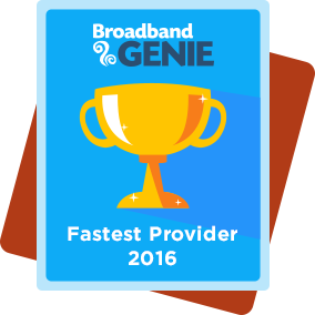 Fastest provider 2016 award - Virgin Media