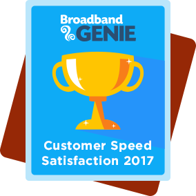 Customer Speed Satisfaction 2017 award - Virgin Media