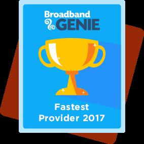 Fastest provider 2017 award - Virgin Media