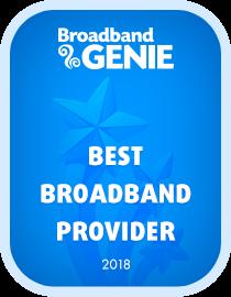 Best broadband provider 2018 award - Plusnet