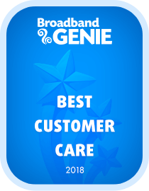 Best customer care 2018 award - Plusnet