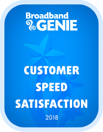 Customer Speed Satisfaction 2018 award - Virgin Media