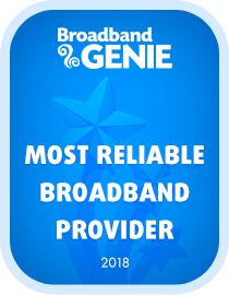 Most Reliable broadband provider 2018 award - Plusnet