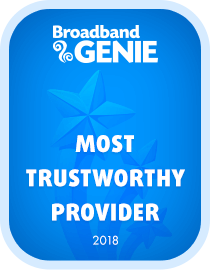 Most Trustworthy provider 2018 award - Plusnet