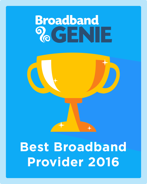 Best Broadband Provider 2016 graphic