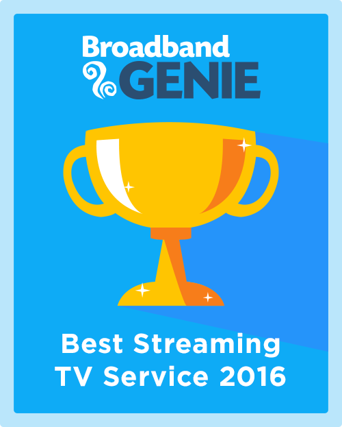 Best Streaming TV Service 2016 graphic