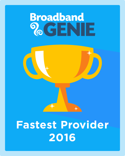 Fastest Provider 2016 graphic