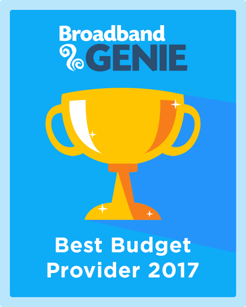 Best Budget Provider 2017 graphic