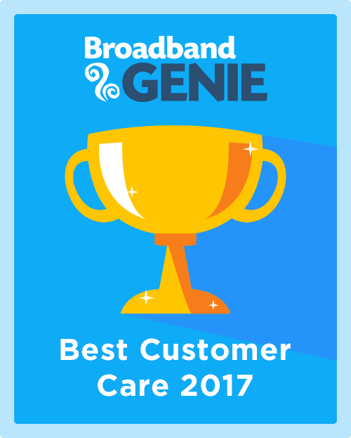 Best Customer Care 2017 graphic
