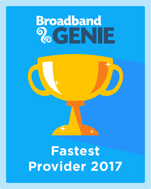 Fastest Provider 2017 graphic