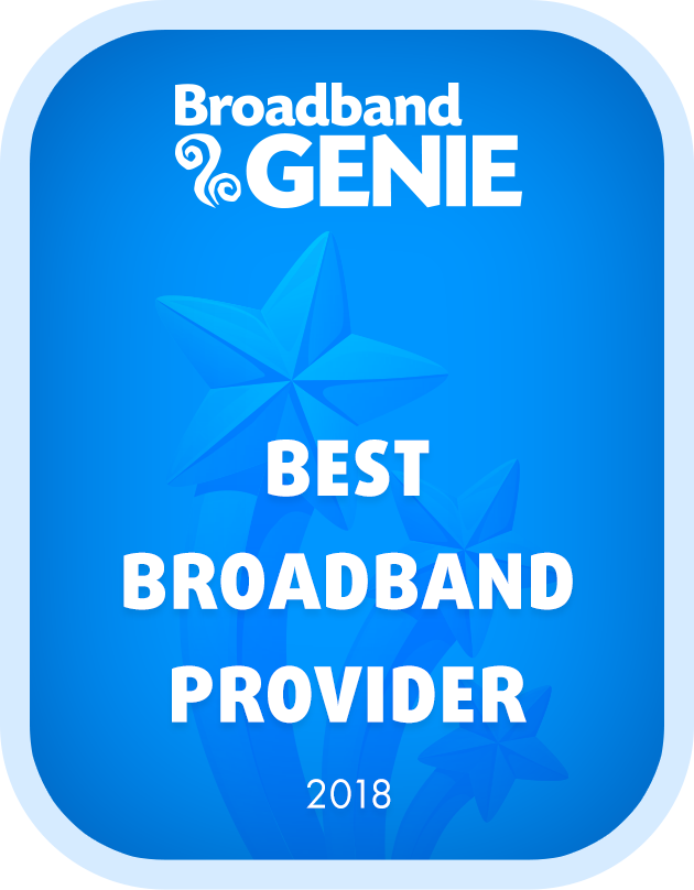 Best Broadband Provider 2018 graphic
