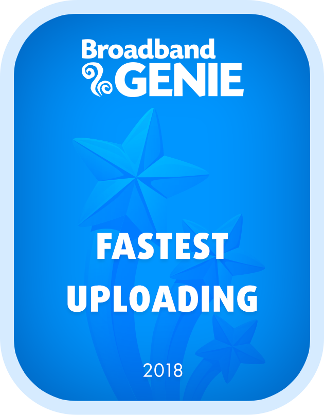 Fastest Provider - Uploading 2018 graphic