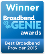 Best Broadband Provider Winner 2015 graphic