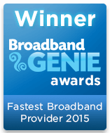 Fastest Broadband Provider Winner 2015 graphic